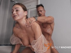Deep-throaters British Adult movie star TINA KAY Pounds A Cherry while his Plushies are Watching! WolfWagnerCom