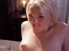 Lesbea Mary Jane scissoring and beaver licking ejaculation with super-sexy light-haired Czech