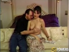 ED POWERS - Devon has been sexually aroused to eventually get to have Ed nail her ballsack