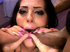 Ashley in booty-crack jizz flows and gang-bang deeds