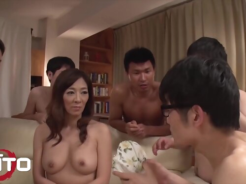 Gangbang With Hot Gorgeous Girl And Five Guys
