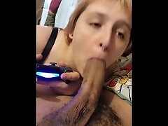 Huge-boobed Daddy's Big black cock While Toying Xbox🤪