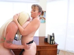 Chesty Officer Sara Jay Wants Fat Bootied Alexis Andrews Inbetween Her Fat Tits!