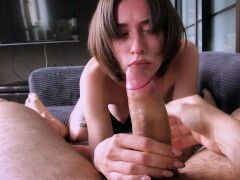 Observe this hotty get into some sexy, slimy shaft teasing.
