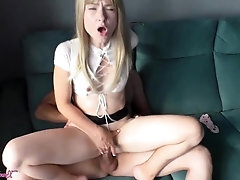 Firm Doggystyle Nailing Chick in Devours Miniskirt and Blow