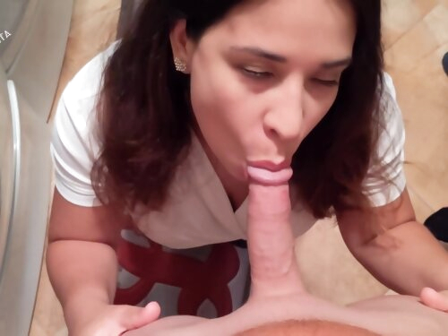 Its Bigger Than Your Dads! Latina Stepmom Teaches Stepson How A Girl Should Swallow Hd 4k