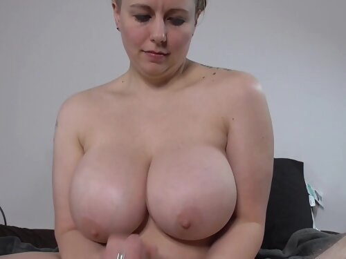 Bayesia Jerks A Cock Until It Cums On Her Tits