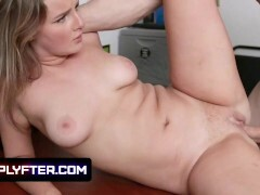 Nice Nuts Teenage Eliza Eves Lets The Mall Cop Decorate Her Pointy Hooters With Spunk
