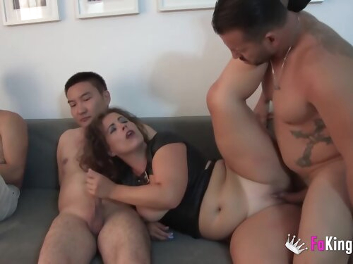 Montse Swinger - She A Rough Session With Her Husband While A Chinese Dude Watches