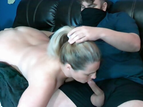 Milf Dildo Fucked And Blowjob On The Couch