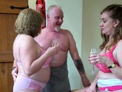 Aged Enjoy Lily and Trisha in three-way