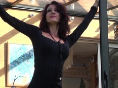 La Cochonne - French mature gets peeks in the nut sack by BBC