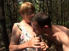 Wild Old Mama Gets Some Youthful Meat