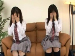 Subtitled CFNM Japanese schoolgirls interview surprise