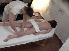 Teenage Bombshell Cheating BF on our Massage Table