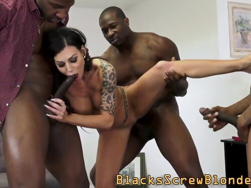 Interracially fucked milf with huge tits