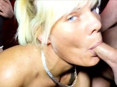 Creampie Gang-bang Soiree with German Thin Mummy Stacy Lou