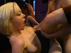 Stunning damsels string up to give indecent suck crew screw